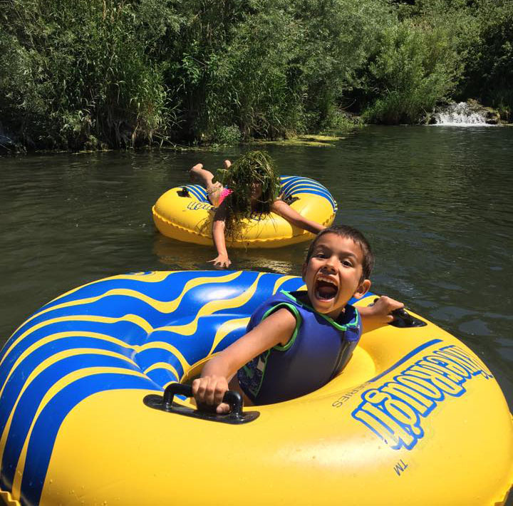 Floating the Portneuf River at Crystal Springs Campground