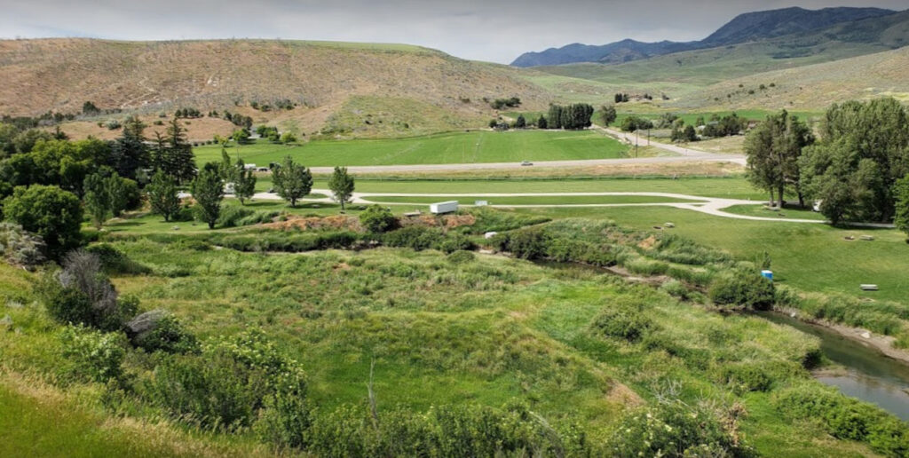Crystal Springs Campground near Lava Hot Springs Idaho
