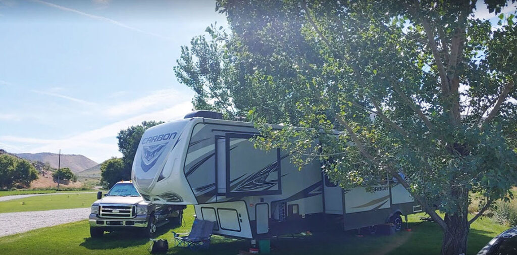 RV Park at Crystal Springs Campground near Lava Hot Springs Idaho