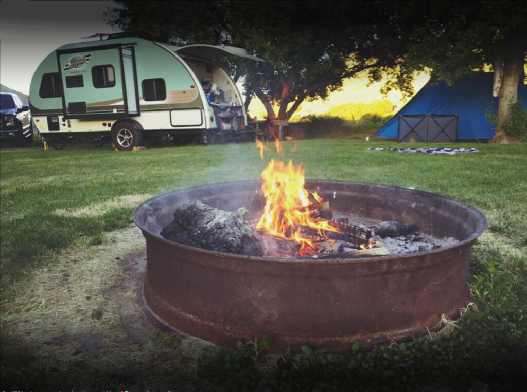 RV Campsite with Fire Pit